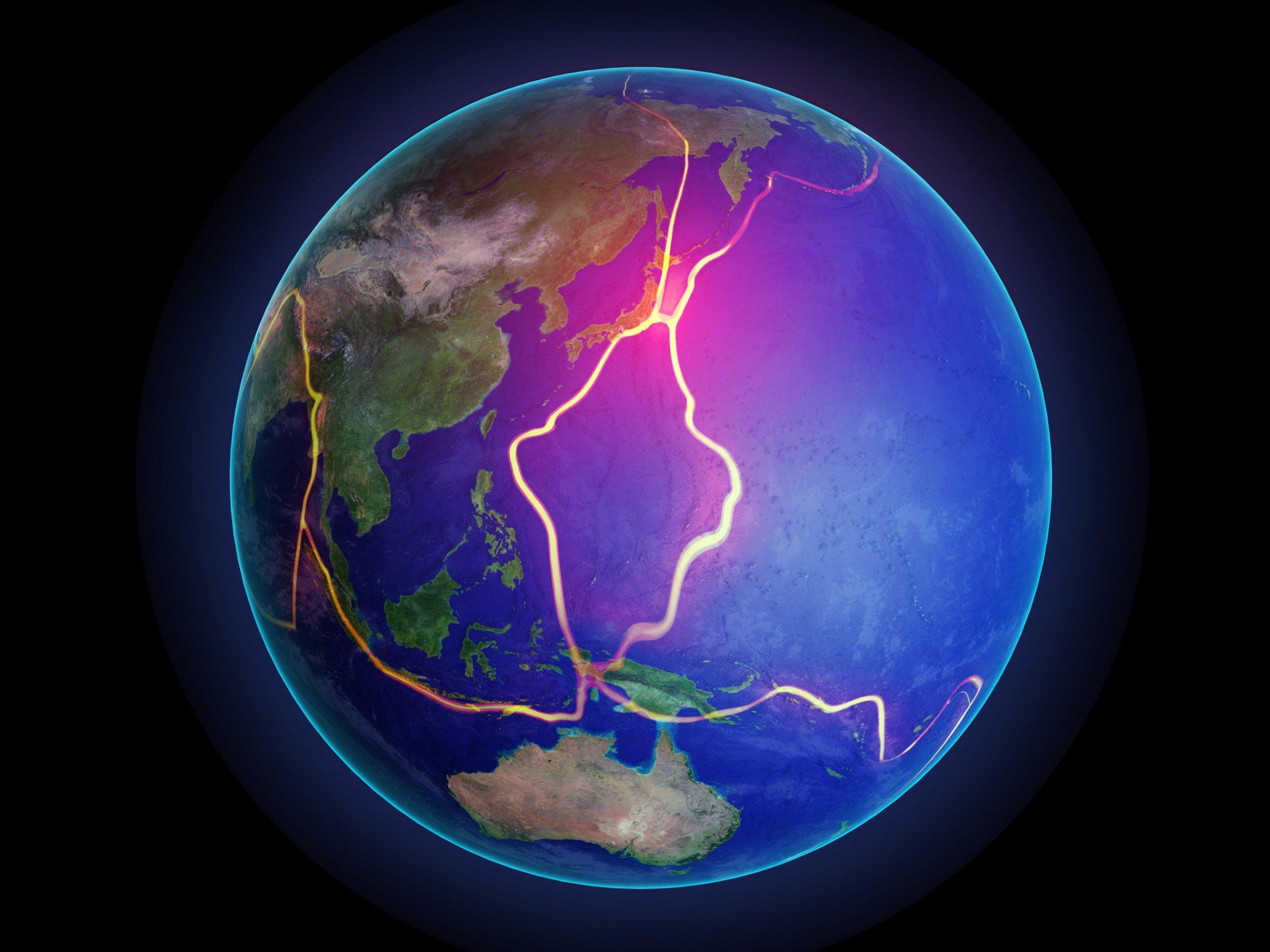 Landmasse Erde